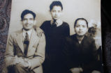 Pande, Asha and Suresh. Suresh Pande as a young boy in India, with his partents.