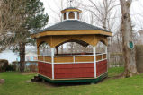Collins, Randy. A gazebo covering a historic well in Collins' backyard.