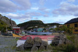 Boat and lobster traps in Quidi Vidi.
