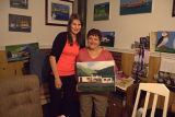 Hennebury, Linda. Hennebury with Christine Blythe posing with her painting.