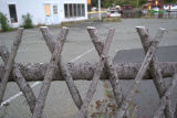 Traditional wooden fencing in Quidi Vidi.