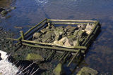 Abandoned ballast pound at low tide.