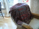 Collinson, Yvonne Mary Pynn. Photograph of a family heirloom - a christening shawl.