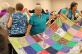 "Quilter at ""Craft Night""."
