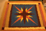 Compass Rose Hooked Rug