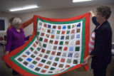 A quilt at the 50+ craft night