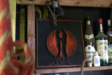 String art in the Carey root cellar