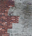 Close up of bricks on the side of Devon House the Craft Council of Newfoundland and Labrador...