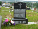 Photo of the headstone of  O'Brien family