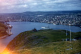 View of St. John's and Harbour from Signal Hill.