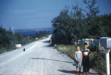 Two children on Thorburn road.