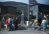 Memorial Day Service and War Memorial monument in Portugal Cove.