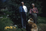 Allen Squires, Jake Tucker, and Butch the dog.