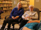 Bugden, Roberta. Photo from Mount Pearl Memory Mug Up. Roberta Budgen on the right hand side.
