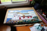 Smith, Susie. Hooked rug of New Perlican Lighthouse.