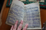 Peddle, Ron. Seaman's working log book.
