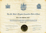The St. John's Regatta Committee Hall of Fame Induction Certificate
