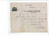 James Roche Blacksmith Receipt