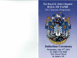 The Royal St. John's Regatta Hall of Fame 2011 Souvenir Programme
