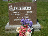 James and Bride Kinsella headstone in St. Francis of Assisi Cemetery