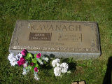 Annie and Dennis Kavanagh headstone in St. Francis of Assisi Cemetery