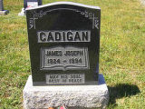 James Joseph Cadigan headstone in St. Francis of Assisi Cemetery