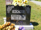 Nicholas Paul Roche headstone in St. Francis of Assisi Cemetery