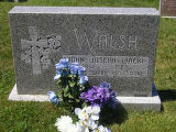 John Joseph (Jack) Walsh headstone in St. Francis of Assisi Cemetery