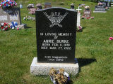 Annie Burke headstone in St. Francis of Assisi Cemetery