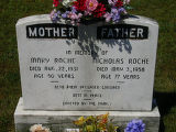 Mary and Nicholas Roche headstone in St. Francis of Assisi Cemetery