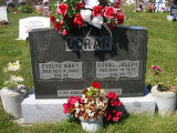 Evelyn Mary and Daniel Joseph Doran headstone in St. Francis of Assisi Cemetery