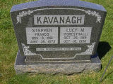 Stephen Francis and Lucy M. (Foresthall) Kavanagh headstone in St. Francis of Assisi Cemetery