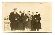 Cantwell, Theresa Squires. Black and white photograph of three men and three women from Theresa...