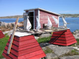 Salt cod drying, Joe Batt's Arm