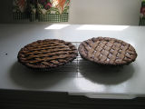 Margaret Decker's lassie tarts: two cooling on the counter, Joe Batt's Arm