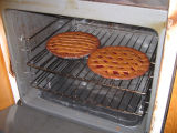 Margaret Decker's lassie tarts: two in the oven, Joe Batt's Arm