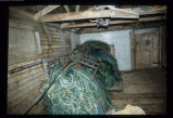 Fishing nets in John Tobin's stage, Joe Batt's Arm