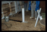 Splitting table supports in Len Brown's stage, Joe Batt's Arm