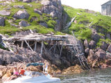 Dilapidated stage, Wadham's Harbour, Little Fogo Island