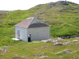 Cabin with two men, Little Fogo Island