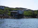 Abandoned cod liver oil factory, Dean's Harbour, Little Fogo Island