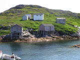Fishing stages and cabins, Little Fogo Island