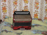 Peter Emberley's accordion, Little Fogo Island