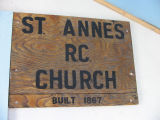 Sign, St. Anne's Church, Little Fogo Island