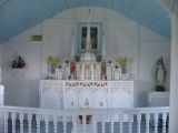 Altar and altar railing, St. Anne's Church, Little Fogo Island