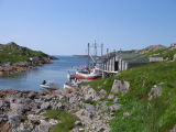 Opening of the harbour from the land, Wadham's Harbour, Little Fogo Island