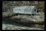 Large stage in Dean's Harbour, Little Fogo Island