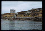 Furlong's cabin from the water, Wadham Harbour, Little Fogo Island