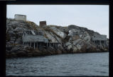 Stages and other buildings, second view, Wadham's Harbour, Little Fogo Island
