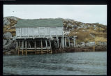 Stage in Wadham's Harbour viewed from the water, Little Fogo Island